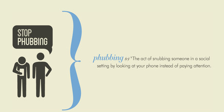 An image from the stop phubbing campaign.Photo / www.stopphubbing.com