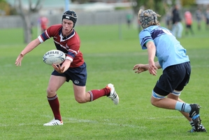 """Matt Martin (left) suffered the injury in a """"hard, legitimate"""" tackle, his 1st XV coach says. File picture / Otago Daily Times"""