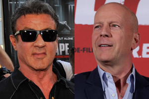 Bruce Willis has been called greedy and lazy by former business partner Sylvester Stallone.  Photo / AP