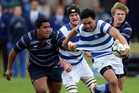 St Kent's, blue and white, and Sacred Heart are among the five big spenders on 1st XV rugby. Photo / APN
