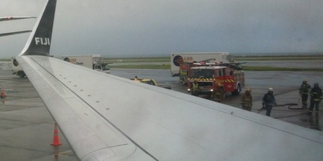 Passenger John Crook sent us this photo from on-board the plane.