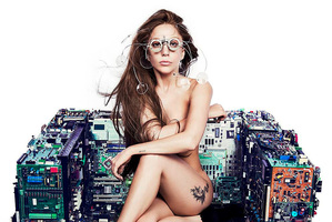 A promotional image for Lady Gaga's upcoming album ARTPOP.