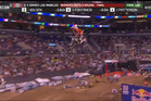Australian motocross Meghan Rutledge crashed on the final jump after a fist pump. Photo / X Games