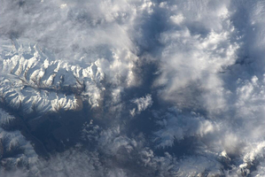 Astronaut Luca Parmitano captured this picture of New Zealand from on board the International Space Station.