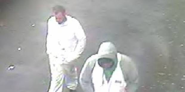 Two of the men police are looking for over the robbery. Photo / NZ Police