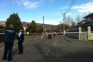 The scene where the missing body was found in Christchurch .Photo / APNZ