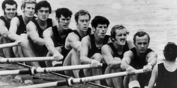 It's been more than 40 years since New Zealand won a gold in the men's rowing eight. Photo / Herald archive
