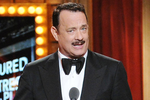Actor Tom Hanks presents at the Tony Awards. Photo / AP