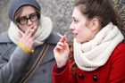 People are still smoking on footpaths between university buildings, despite the ban. Photo / Thinkstock