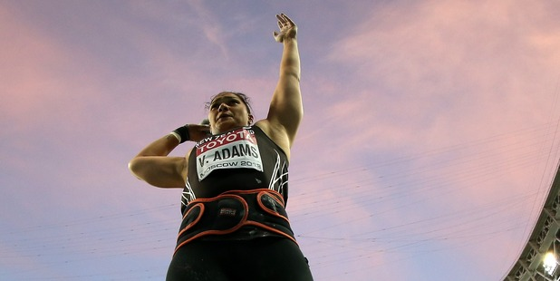 Valerie Adams prepares to hurl herself further towards athletics immortality. Photo / AP