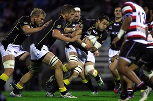 Jeremy Thrush on the charge for Wellington. Photo / Getty Images