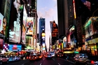 Get in a New York state of mind and marvel at the bright lights of Times Square.