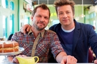 Jimmy Doherty and Jamie Oliver.