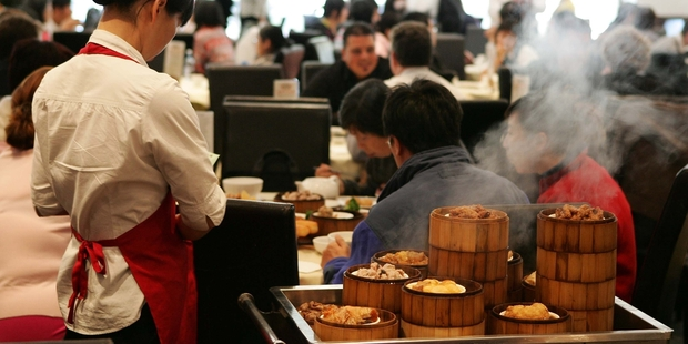 The biggest increase in sales was in food and beverage services, a category which includes cafes and restaurants. Photo / Getty Images