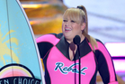 Rebel Wilson's joke about One Direction was cut from broadcast by US censors. Photo / AP