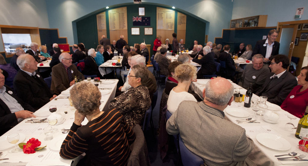Well-wishers packed out the Taradale Town Hall to celebrate 75 years of the local Justice of the Peace association.