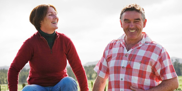 Bridget and Mike Parker of Kiwi Organics.