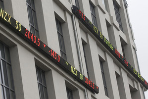 Shares on the NZX closed up 24c yesterday at $5.39. Photo / File