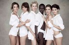 The 50th anniversary Pirelli calendar features (from left) Alessandra Ambrosio, Helena Christensen, Karolina Kurkova, Alek Wek, Miranda Kerr and Isabeli Fontana.Photo / Peter Lindbergh