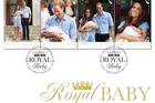A first look at the Royal Baby stamps.