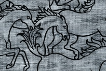 Florence Broadhurst's horses stampede print.