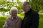 Gary McCormick with his mother in 'Descent from Disaster', the Napier Earthquake episode.