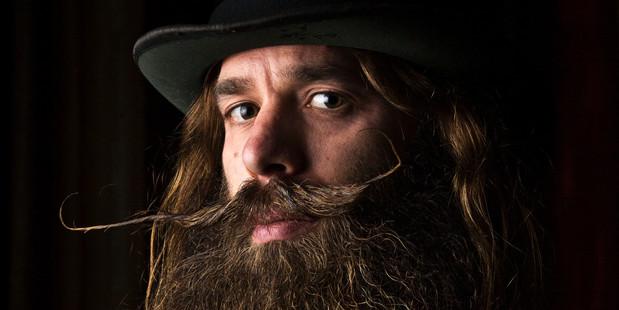 Ygnacio Cervio is off to the world beard growing champs. Photo / Greg Bowker