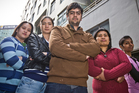 Sharry Ocampo, Gretchen Betita, Pankaj Kumar, Joilaly Basilio and Rajwant Kaur say they have been exploited. Photo / Greg Bowker