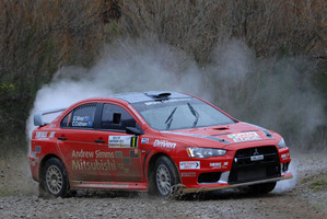 Chris West and co-driver Chris Cobham in action at Rally of Canterbury. Picture / Euan Cameron