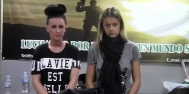 Michaella McCollum Connolly, left, and Melissa Reid were detained as they checked in for a flight to Madrid.