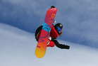 Shelly Gotlieb gets some snowboard big air at the Winter Games in Wanaka. Photo/ Getty Images