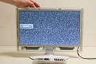 One of the transparent television sets the Department of Corrections will rent to prisoners. Photo / Mark Mitchell