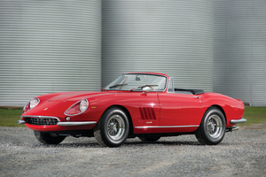 The Ferrari 275 GTB/4*S NART Spyder, one of only 10 made, was bought for US$15,000 in 1967. Photo/ Darin Schnabel/RM Auctions