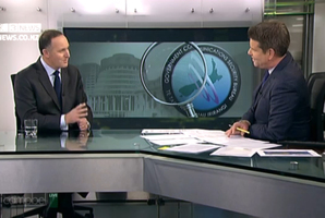 Prime Minister John Key interviewed by John Campbell on TV3 television programme Campbell Live.
