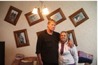 Hanging on: Steven and Renee Hammond of 7 Clifford St still have a house but are living in the caravan. Photo / Tim Cuff
