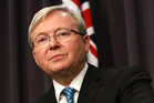 Opposition Leader Tony Abbott and Prime Minister Kevin Rudd competed in the first debate. Photo / Getty Images