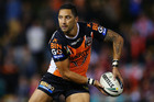 Wests Tigers coach Mick Potter has rejected calls to drop rugby-bound Benji Marshall. Photo / Getty