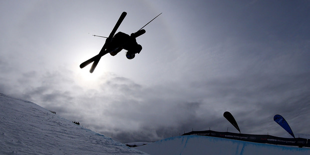 Devin Logan of the US handled the windy conditions best to win the freeski halfpipe at the Winter Games yesterday. Photo / Getty Images