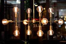 Weekend Trader 12-light brass chandelier.