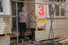 Ben and Libby visit the houses on this year's 'The Block NZ'.