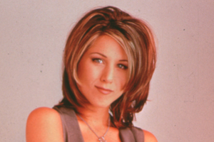 Aniston sporting 'The Rachel' haircut.