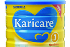 Danone's Nutricia Karicare baby formula, one of the products recalled after the recent Fonterra contaminated whey scare.