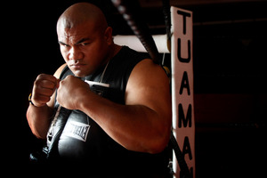 David Tua seems in a good headspace after being reunited with trainer Lee Parore. Photo /  Kenny Rodger