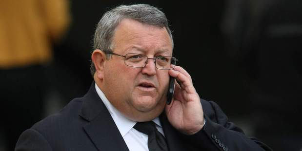 """So you want us to have a policy but the gallery has no policy?"" Gerry Brownlee questions why reporters feel their privacy should be protected. Photo / Greg Bowker"