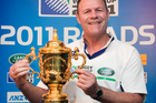 Alan Whetton, seen here with the Webb Ellis trophy, is one of 13 targets of an alleged fraudulent scheme by a 20-year-old. Photo / Natalie Slade