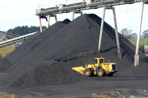 Coal heap at Solid Energy's  Rotowaro open cast mine at Huntly. File photo / NZPA