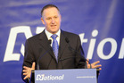 Prime Minister John Key gives his opening address at the National Party's conference, Nelson. Photo / SNPA / Ross Setford