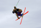 Lyndon Sheehan of New Zealand competes during qualifying for the FIS Freestyle Ski Halfpipe World Cup during day two of the Winter Games NZ. Photo / Getty Images.