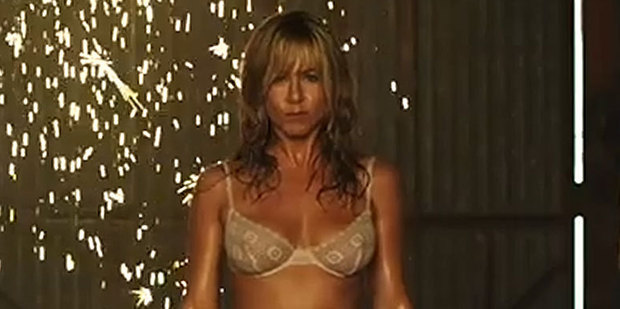 Jennifer Aniston plays a stripper in the movie We're the Millers. Photo / YouTube