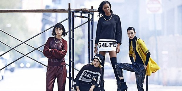 Rihanna's new River Island line is sporty but glam.Photo / Lachlan Bailey, River Island